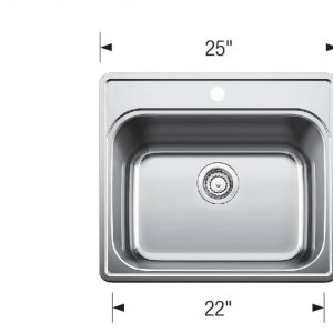 Blanco 401201 Essential Laundry Sink Technical Drawing
