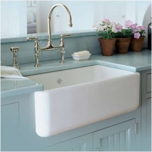 ROHL Shaw RC3018WH Lancaster 30 inch Farmhouse Apron Front Kitchen Sink