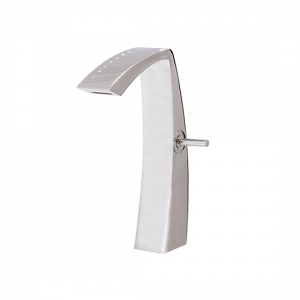 Tall single-hole lavatory faucet with crystals - 61720