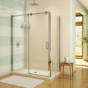 Fleurco Glide 2 Sided Sliding Door And Fixed Panel