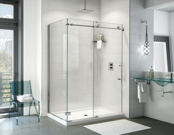 Fleurco K2 2 Sided CW Sliding Door And Fixed Panel