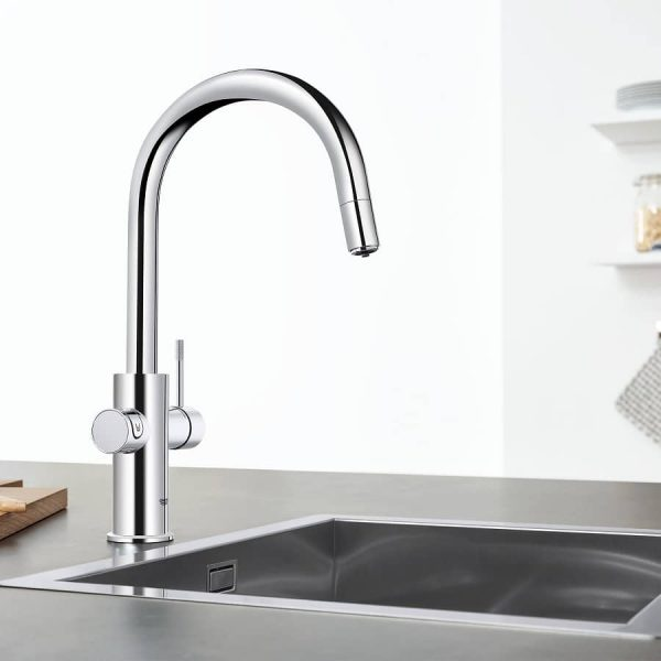 Grohe 31251002 Blue Kitchen Faucet Chilled & Sparkling Water StarLight Chrome