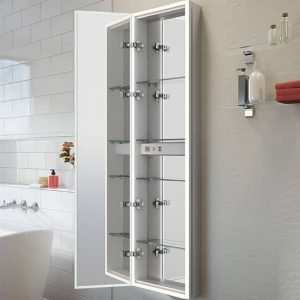 Fleurco Halo Tall View Medicine Cabinet Open