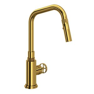 ROHL CP56D1IWULB Campo Kitchen Faucet In Unlacquered Brass