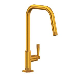 ROHL MB7956LMSG Graceline Pull-Down Kitchen Faucet In Satin Gold