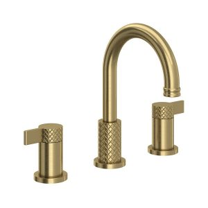 ROHL TE08D3LMAG Tenerife Widespread Bathroom Faucet In Antique Gold