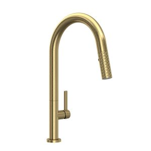 ROHL TE55D1LMAG Tenerife Pull-Down Kitchen Faucet Antique Gold