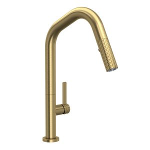 ROHL Tenerife TE56D1LMAG Pull-Down Kitchen Faucet Antique Gold