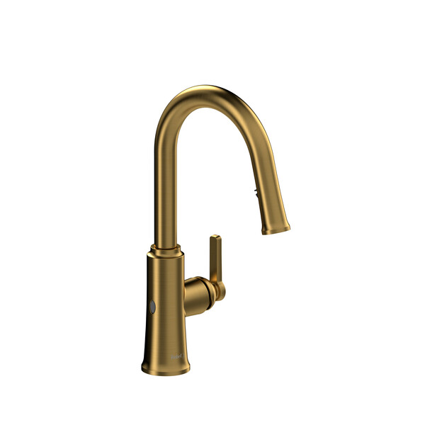 Riobel TTRD111BG Trattoria Pull-Down Touchless Kitchen Faucet In Brushed Gold