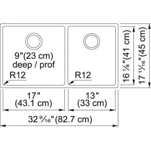 Franke CUX160-32-CA Cube Undermount Sink specs
