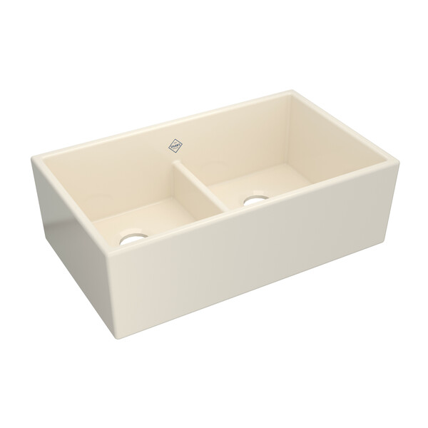 Shaws MS3320PCT 33 Inch Shaker Double Bowl Sink in Parchment