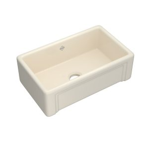 ROHL Shaws RC3017PCT 30 Inch Egerton Farmhouse Apron Front Kitchen Sink In Parchment