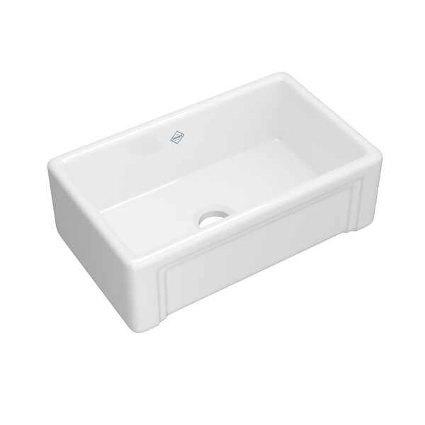 ROHL Shaws RC3017WH 30 Inch Egerton Farmhouse Apron Front Kitchen Sink In White
