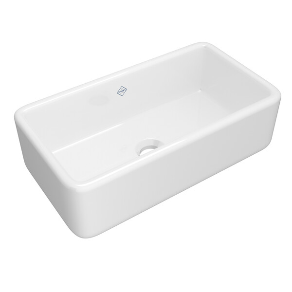 ROHL Shaws RC3318WH Lancaster 33 Inch Single Bowl Farmhouse Apron Sink In White