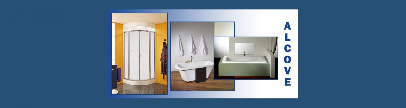 Alcove bathtubs and showers