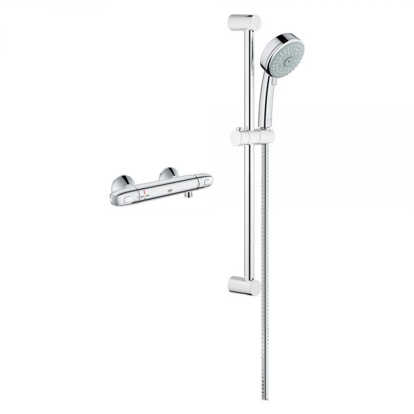 Grohe exposed thm single function shower kit 122629