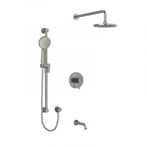 Riobel Edge KIT#1345EDTMCBN Brushed Nickel Shower Kit