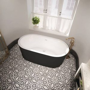 Bain Ultra NOKORI OVAL 6737 Freestanding Bathtub Black