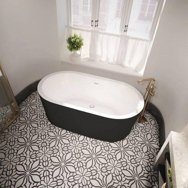 Bain Ultra NOKORI OVAL 6737 Freestanding Bathtub Black