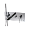 4-piece wallmount tub filler with handshower - 51004