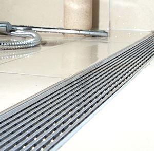 ACO- Quartz- Plain Edge Shower Channel