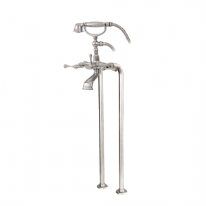 Cradle tub filler with handshower and floor risers - 7386