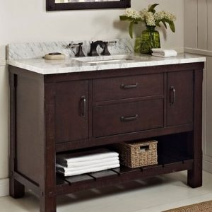 "Fairmount Designs Napa 48"" Open Shelf Vanity"