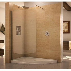 Fleurco Evolution - Eclipse Curved Glass Walk-in Shower