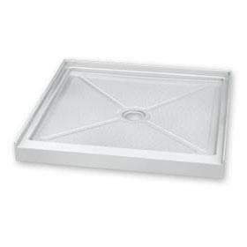 Fleurco Shower Base Square In-Line Acrylic Shower Base (ABC36ST)