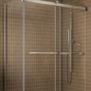 Fleurco Shower Door Gemini 2 Sides ByPass Including Return Panel