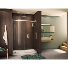 Fleurco Shower Door Novara BowFront 60, Curved Door and Panel