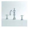 Perrin & Rowe - Three Hole Basin Mixer with country spout- 3721-3720