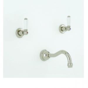 Perrin & Rowe - Three Hole wall mounted country basin mixer- 3790- 3791