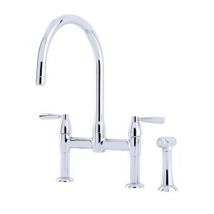 Perrin and Rowe - Io 2 Hole Sink Mixer w/ Lever Handles & Rinse