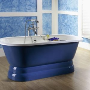Recor Freestanding Bathtub -Dual- Pedestal Base
