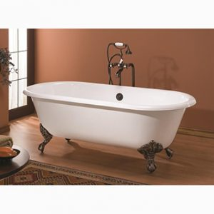 "Recor Freestanding Bathtub -Regal 61""-Clawfoot Bath"