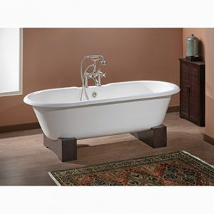 "Recor Freestanding Bathtub -Regal 61""-Wooden Base"