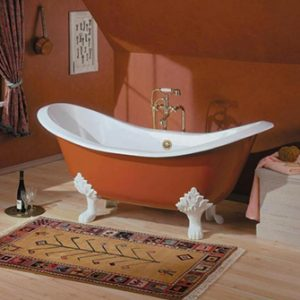 "Recor Freestanding Bathtub -Regency 61""-Lion Feet"