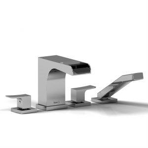 Riobel Zendo 4-Piece Deck Mount Tub Filler w/ hand shower ZOOP12