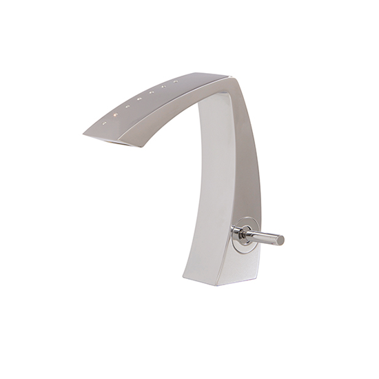 Single-hole lavatory faucet with crystals - 61714