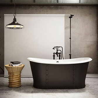 Slik Cast Iron Black-Mat Freestanding Bathtub