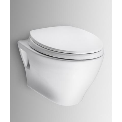 TOTO Aquia Wall Hung Dual Flush Toilet, 1.6GPF & 0.9GPF with SanaGloss (CT418FG)
