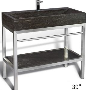Unik Stone_Steel freestanding Washbasin with Base
