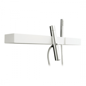 Wallmount tub filler with handshower and shelf - 51904