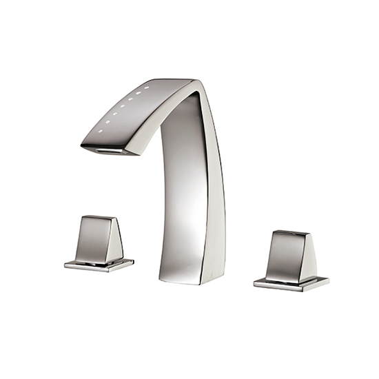 Widespread lavatory faucet with crystals - 61716