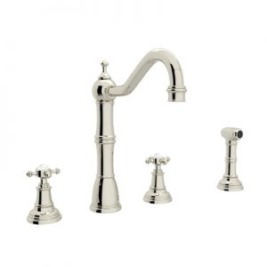 PERRIN & ROWE® 4-HOLE KITCHEN FAUCET WITH SIDESPRAY # U.4775