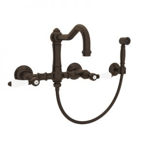 COUNTRY KITCHEN WALL MOUNT COLUMN SPOUT BRIDGE KITCHEN FAUCET WITH HANDSPRAY PRODUCT # A1456WS