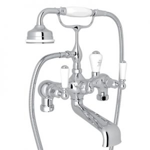 ROHL - PERRIN & ROWE® EDWARDIAN EXPOSED TUB FILLER WITH HANDSHOWER #U.3540