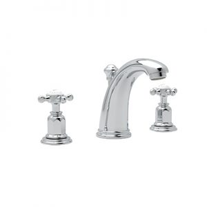 ROHL - PERRIN & ROWE EDWARDIAN HIGH NECK WIDESPREAD LAVATORY FAUCET- #3761