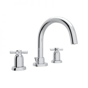 ROHL - PERRIN & ROWE® HOLBORN C-SPOUT WIDESPREAD LAVATORY FAUCET #U.3956